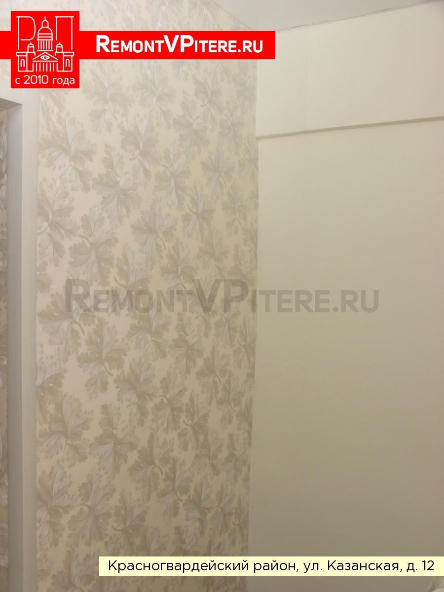 Оклейка стен комбинированными обоями
