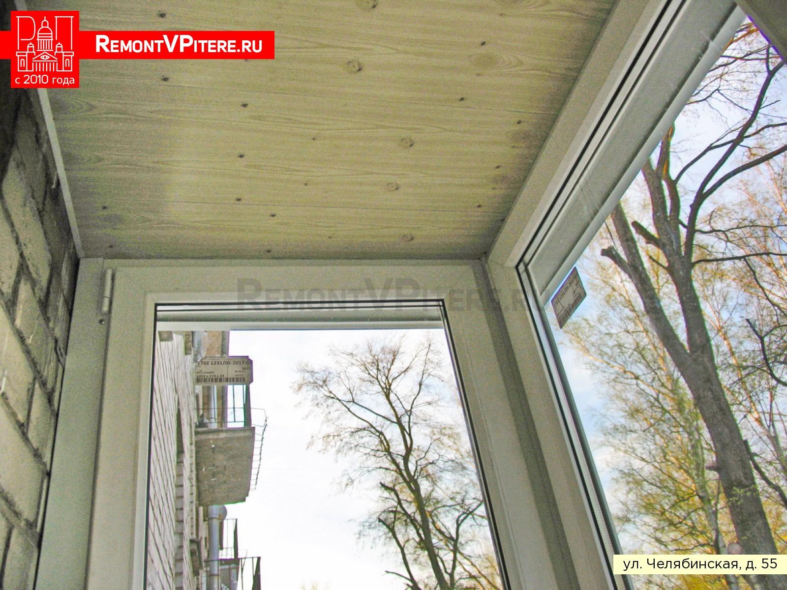 Потолок на балконе хрущевки