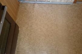 Старый линолеум на кухне