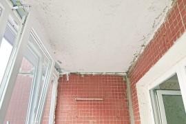 Потолок лоджии без отделки
