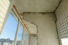 Разделительная плита на балконе