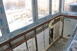 Неправильное утепление балкона