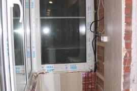 В процессе ремонта балкона
