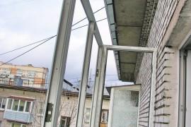 Монтаж остекления без крыши