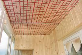 Пароизоляция на потолке лоджии