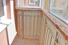 До ремонта на балконе