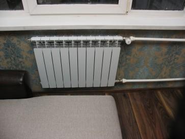 Замена радиатора отопления