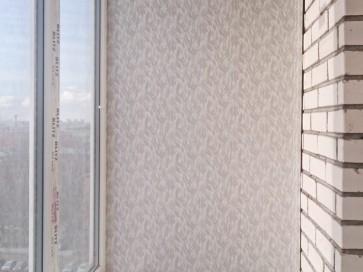 ПВХ панели с рисунком на стене балкона